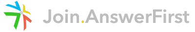 Join AnswerFirst Mobile Logo
