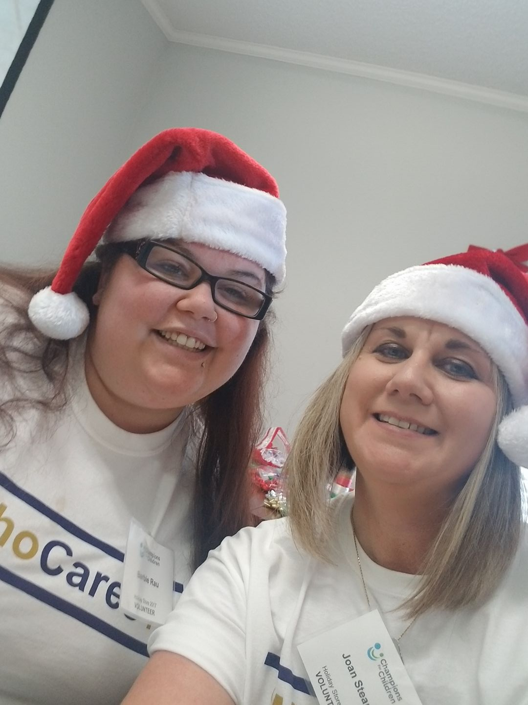 AnswerFirst Staff in Holiday Hats
